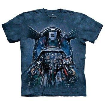 koszulka THE MOUNTAIN - BLUE COCPIT, barwiona