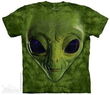 koszulka THE MOUNTAIN - GREEN ALIEN, barwiona