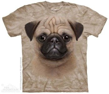 koszulka THE MOUNTAIN - PUG PUPPY, barwiona