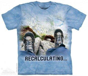 koszulka THE MOUNTAIN - RECALCULATING OUTDOOR, barwiona