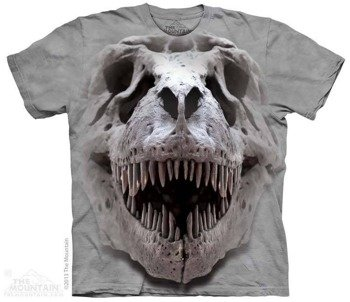 koszulka THE MOUNTAIN - T-REX BIG SKULL, barwiona