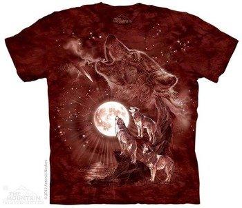 koszulka THE MOUNTAIN - WOLF MOON CONCERT, barwiona