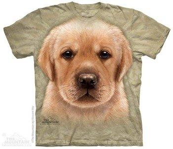 koszulka THE MOUNTAIN - YELLOW LAB PUPPY, barwiona