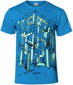 koszulka TIDES FROM NEBULA - WORD SPLATTER niebieska
