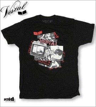 koszulka VESTAL -TV FLYER  (BLACK)  KVEST-006