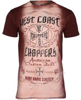 koszulka WEST COAST CHOPPERS - WCC AMERICAN CUSTOM, barwiona