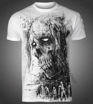 koszulka ZOMBIE - DEFEND SURVIVE biała