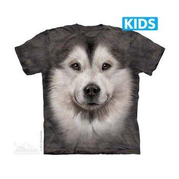 koszulka dziecięca THE MOUNTAIN - ALASKAN MALAMUTE FACE, barwiona