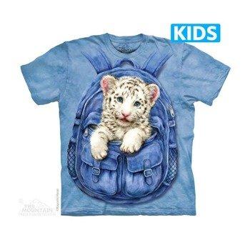 koszulka dziecięca THE MOUNTAIN - BACKPACK WHITE TIGER, barwiona
