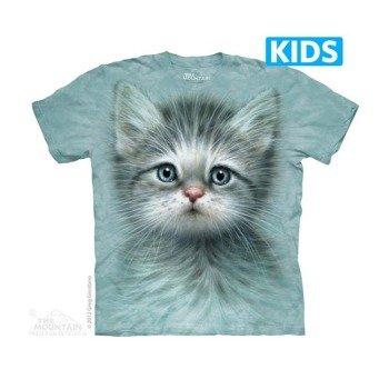 koszulka dziecięca THE MOUNTAIN - BLUE EYED KITTEN, barwiona