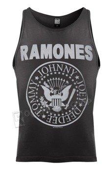 koszulka na ramiączkach RAMONES - LOGO, szara