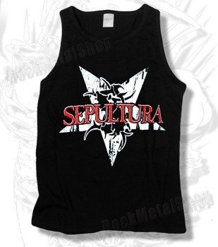 koszulka na ramiączkach SEPULTURA - RED/WHITE LOGO