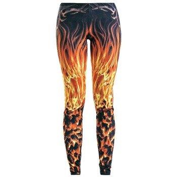 legginsy SPIRAL - FURNACE FLAMES
