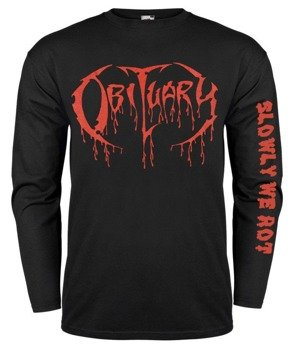 longsleeve OBITUARY - RED BLOODY LOGO