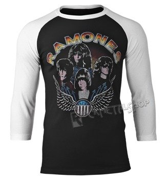 longsleeve RAMONES - VINTAGE WINGS PHOTO, rękaw 3/4