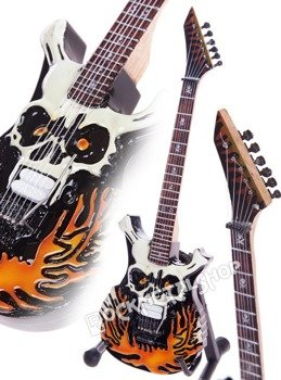miniaturka gitary GEORGE LYNCH - ESP FLAMING SKULL