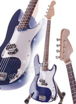 miniaturka gitary IRON MAIDEN - STEVE HARRIS PRECISION BASS BLUE