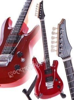 miniaturka gitary JOE SATRIANI: IBANEZ JS 1200 RED CANDY