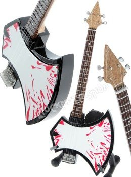 miniaturka gitary KISS - GENE SIMMONS: AXE BLOOD BASS