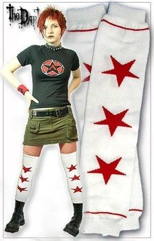 nadkolanówki dziewczęce RED STAR (białe)