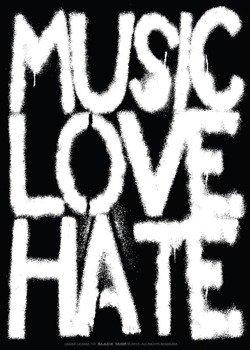 naklejka BLACK ICON - MUSIC, LOVE