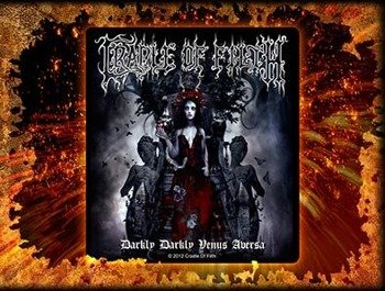 naklejka CRADLE OF FILTH - DARKLY DARKLY VENUS AVERSA