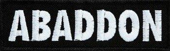 naszywka ABADDON - BIAŁE LOGO  Carton