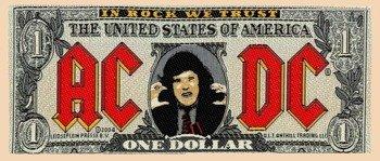 naszywka AC/DC -  BANK NOTE