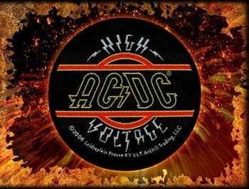 naszywka AC/DC - HIGH VOLTAGE