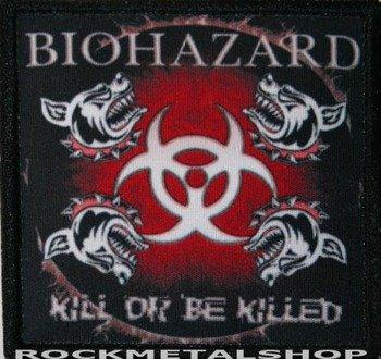 naszywka BIOHAZARD - KILL OR BE KILLED