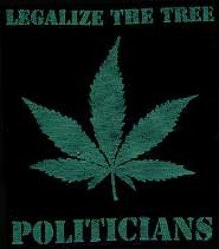 naszywka LEGALIZE THE TREE POLITICIANS