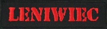naszywka LENIWIEC - RED LOGO