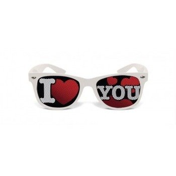 okulary NUNETTES - COLLECTION I LOVE YOU WHITE