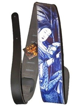 pas do gitary TATTOO JOHNNY - GEISHA skórzany, 63mm