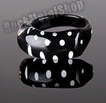 pierścień DOTS czarny