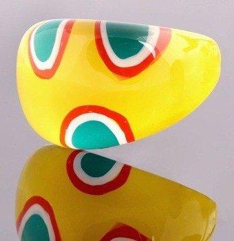 pierścień ROUND PATCHES żółty