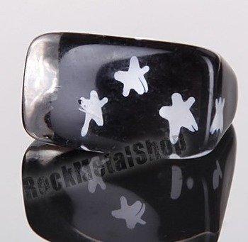 pierścień STARS czarny