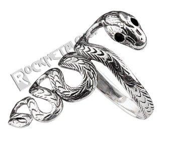 pierścionek BIG SNAKE, srebro 925