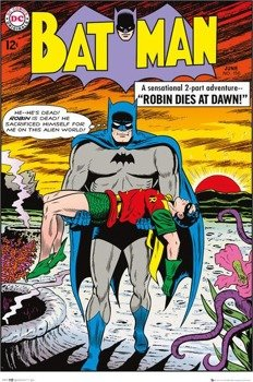 plakat BATMAN COMIC - ROBIN DIES AT DAWN