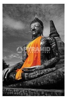 plakat BUDDHA - ORANGE