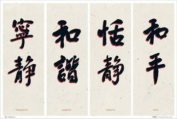 plakat CHINESE WRITING