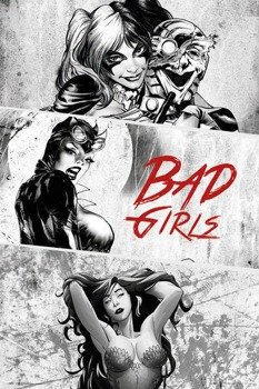 plakat DC COMICS - BADGIRLS BLACK AND WHITE