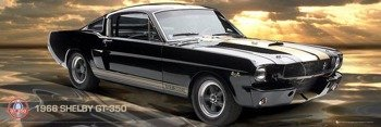plakat FORD SHELBY MUSTANG 66 GT 350