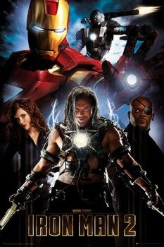 plakat IRON MAN 2 - COLLAGE