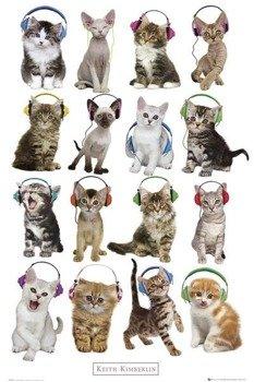 plakat KEITH KIMBERLIN - KITTENS HEADPHONES