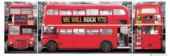 plakat LONDON - BUS TRIPTYCH