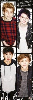 plakat na drzwi 5 SECONDS OF SUMMER - BAND