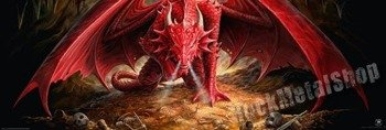 plakat panoramiczny ANNE STOKES - DRAGONS LAIR