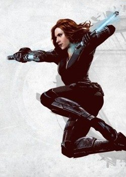 plakat z metalu MARVEL - CIVIL WAR - BLACK WIDOW