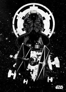 plakat z metalu STAR WARS - TIE FIGHTER PILOT